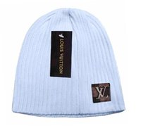 chapéus de inverno venda por atacado-Mais novos estilistas Unisex Primavera Inverno Chapéus para a lã Men Mens Hat Beanie Man Knit Bonnet Polo Beanie Gorro Chapeu malha Thicken Cap Quente