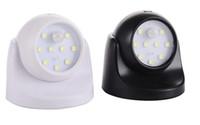 градусный аккумуляторный фонарь оптовых-9 светодиодов 360 градусов поворотный датчик ночного освещения с питанием от батареи коридор настенный прикроватная лампа шкафчик гаража индукционная лампа