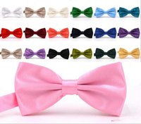 Wholesale burgundy bow ties resale online - Bow Ties For Weddings Fashion Man And Women Neckties Mens Bow Ties Leisure Neckwear Bowties Adult Wedding Bow Tie In Stock Cheap
