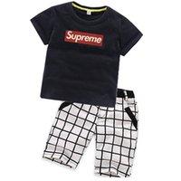 hohe mode kinder jeans groihandel-hochwertige mode kinder kleidung baby baumwolle tees hosen sets sommer baby jungen t-shirts shorts anzüge marke kinder kurzarm jeans