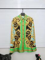 erkekler ipek şortları toptan satış-2019SS melek Yeni Avrupa ve Amerikan erkek pamuk taç aslan ipek gömlek, erkek kısa kollu kral T-shirt ÜCRETSIZ GEMI 368