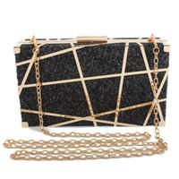 светские кристаллы оптовых-Women's  Shiny Diamond Evening Bag Chain Purse Fashion Crystal Clutches Banquet Socialite Ladies Handbag Sac
