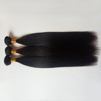 Wholesale discounted 18 inch hair weave resale online - Discount sell Natural Black Brazilian human Hair extensions Silky stright inch Mongolian Malaysian Indian remy Hair weaves in stock
