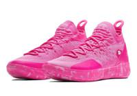 kd basketbol ayakkabıları satışı toptan satış-Satılık iyi KD 11 Teyze Inci ayakkabı Kutusu ile yeni Kevin Durant 11 Basketbol ayakkabıları ücretsiz kargo U7-US12