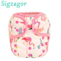 Wholesale one size adjustable diapers resale online - Sigzagor One Size Baby Cloth Diapers Covers Nappies Adjustable Waterproof PUL Double Gusset OS kg to kg DesignsMX190910