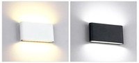 luzes de parede modernas ao ar livre venda por atacado-Lâmpada de parede ao ar livre à prova d 'água 12 W Fonte de LED para cima e para baixo iluminação moderna e minimalista interior engenharia ao ar livre varanda luz do jardim