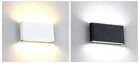 aşağı led led duvar lambası toptan satış-Su geçirmez Dış Duvar Lambası 12 W LED Kaynağı Yukarı Ve Aşağı Aydınlatma Modern Minimalist Kapalı Açık Mühendislik Sundurma Bahçe Işık