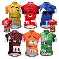 Wholesale black yellow bike jerseys resale online - 2019 mens Cartoon cycling jersey pro team maillot ciclismo ropa yellow red blue mtb bike jersey cycling clothing cartoon funny jersey