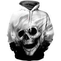 Wholesale plus size clothing skulls online - 2019 D Branch Skull Hoodies Sweatshirt Unisex Autumn Winter Sportswear Tracksuit Casual Plus Size Clothing D Hoody Tops S XL