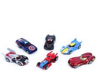ingrosso auto scorrevoli giocattolo-Giocattoli lega Mini racing modello per bambini nuovo pack Hot Wheels 4 Giocattoli scorrevole Pocket Piccolo Sports Car
