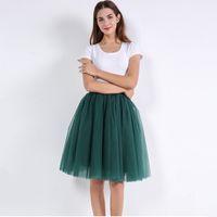 Wholesale dance petticoats for sale - Group buy Layers Cm Princess Skirts Midi Tulle Skirt Pleated Dance Tutu Faldas Lolita Petticoat Jupe Saia Womens Denim Party Skirts