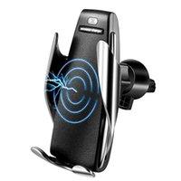 handy-auto-aufladung großhandel-Automatische Auto-Lade-Halter 10W schnelles drahtloses Auto-Ladegerät Smart Air Vent Auto Mount Handy-Handyhalter für Samsung iPhone