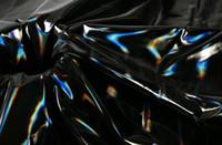 ingrosso tessuti impermeabili-Black Light di modo del rivestimento morbido cappotto impermeabile laser metallo pu lether tessuto tessile fai da te di nozze panno patch di tessuto di cotone manichino C567