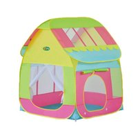 Wholesale house games for children resale online - Folding Children Game Tent House Crawling Ocean Ball Pool Toy Tent for Indoor Outdoor Playhouse