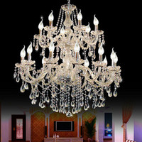 velas de luminária venda por atacado-Grande foyer lustre moderno Escada Longa vela lustre de cristal Luminária Escada escadas de iluminação Longo pendurado lustre