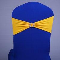 ingrosso lycra elastico-50pcs / lot spandex lycra sedia da sposa fascia fascia nodo elastico matrimonio festa di compleanno sedia decorazione rosa blu