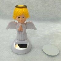 ingrosso altalena solare-Angel Swing Toys Solar Energy Doll Decora l'automobile Assorba il sole Agitare automaticamente senza batteria 3 8lj F1