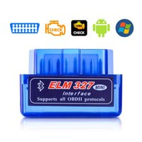Wholesale one chip resale online - New OBD ELM327 Bluetooth v1 PIC18F25K80 chip OBD2 car scanner Auto diagnostic tool OBD code reader for Android one board
