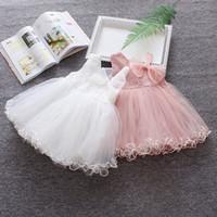 Wholesale baby clothes model for sale - Group buy Vestido Infantil Hot Sale Baby Dress Summer Models Korean Girl Strap Princess Dress Mesh Bow Boutique Children s Clothing