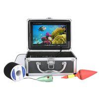 éclairage caméra pc achat en gros de-Kit de caméra vidéo de pêche sous-marine 1000tvl 6 PCS LED s'allume avec 7