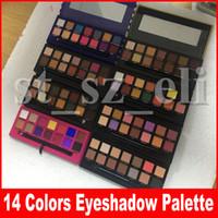 Wholesale waterproof color palette makeup resale online - Hot makeup Palette Rose Gold Stripe colors Eye shadow Modern Palette Soft with Brush color palette