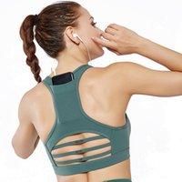 ingrosso donne di usura del fitness-Donne Sport Bra Comfort Seemless Yoga Bellezza tasca posteriore Top Activewear signore Palestra gilet vestiti esercizio Fitness Wear T1932