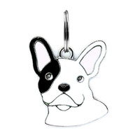 Wholesale dog charms for collar for sale - Group buy 50pcs Enamel FRENCH BULLDOG Dog Pendants Hang Charms With Open Jump Rings Fit For DIY Key Chain Keyrings Pet Collar Jewelry Making
