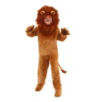 leão filmes venda por atacado-Criança Deluxe Lion Costume Crianças Animal Halloween Trajes Cosplay Fantasia Mágico de Oz Filme Papel Macacões