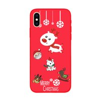 Wholesale santa christmas silicone case resale online - Christmas Tree Phone Case For iPhone Plus Santa Claus Snowman Cases TPU Silicone Cover DHL free