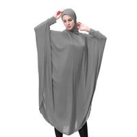 hijab de moda islámica al por mayor-Largo interior Hijab Moda para mujer Llanura islámica Cofre Cubierta Bufanda Tapa Cubierta completa Manga Hijab Señora Musulmán Sombreros para mujer