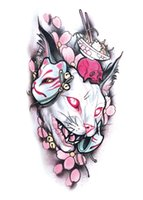 Wholesale temporary lip transfer sticker tattoos resale online - 50pcs Temporary Tattoo Sticker x19cm body art flower Moonlight Cat Transfer Fake Tattoo tattoo for women men