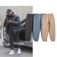 ingrosso pantaloni da skateboard uomo-Kanye West STAGIONE 6 Pantaloni da uomo 3 Colori 2019 Nuovo arrivo Skateboard Uomo Piedi stretti Pantaloni della tuta in cotone Pantaloni hip-hop Formato asiatico
