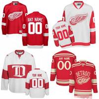 Wholesale bernier jersey resale online - Custom Detroit Red Wings White Third Jersey Any Number Name men women youth kid Athanasiou Nielsen Nyquist Bertuzzi Howe Bernier Yzerman
