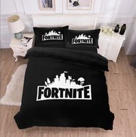 Wholesale boys full size bedding online - Game Fortnite Duvet Cover Twin FUll Queen King Size Quilt Covers Bedding Blanket Cartoon Printed with Couple Pillow Cases Cover SET