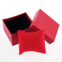 relógios de imitação venda por atacado-Assista caixa de cartão do presente do presente de alta Grade Relógios Pacote Jewelry Box Capa Para Bracelet Bangle jóias Casos relógio de pulso