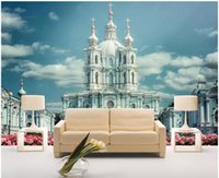 Wholesale scenery for painting for sale - WDBH d wallpaper custom photo Flower garden HD castle scenery painting living room home decor d wall murals wallpaper for walls d