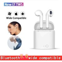 ingrosso earbuds earplug-auricolari Bluetooth I12 i17s TWS 5.0 auricolari wireless e casi di ricarica tappi per le orecchie wadset iPhone Xs Max Android vendite di pacchetti singoli