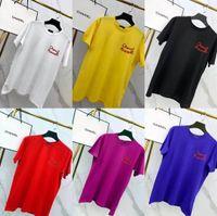 camisas luminosas al por mayor-19ss Nuevo diseño de marca de lujo Pharrell Williams Letras luminosas Camiseta Hombre Mujer Cápsula Colección Streetwear Camisas de exterior