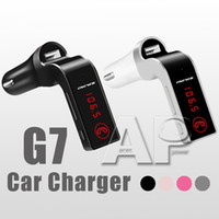 mini kit voiture bluetooth achat en gros de-G7 voiture lecteur audio MP3 voiture sans fil Bluetooth Transmetteur FM Kit modulateur mini USB pour iPhone samsung