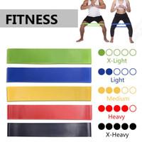 ejercicio de banda de expansión al por mayor-Bandas de Resistencia de Goma elástica de Yoga Gimnasio para Equipos de Fitness Ejercicio Banda de Entrenamiento Tire de la Cuerda Estiramiento Entrenamiento Pilates Expander HHA134