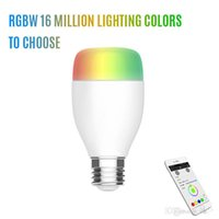Wholesale rgb led bulbs resale online - New W E27 V WIFI LED Light Bulb Support Echo Alexa Voice Lamp Wireless Home Automation Dimmable Musical Lamp RGB Colors