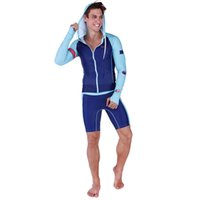 Wholesale anti uv swimwear online - Sabolay Men High Quality Long Sleeves And Shorts Surfing Suit Rash Guard Snorkeling Wet Suit Anti uv Upf Swimwear