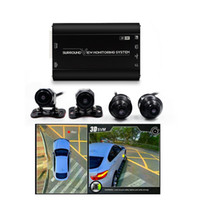 venta de grabadora al por mayor-Venta caliente 360 Vista Envolvente Inconsútil Grabadora de Video Digital DVR 360 Sistema de Birdview para Coche 3D Con 4 PCs Cámaras de Visión Trasera auto dvr