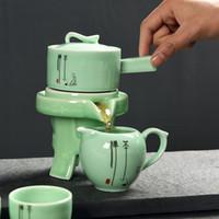 vasos de chá china venda por atacado-China Kung Fu Tea Set 6 Cups Fair Cup Rodar Água Bule Cerâmica Tea Pot Cup chinês do presente do estilo teaset jogos de chá de café