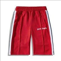 красные полосатые шорты оптовых-Пальмовые летние новые шорты Angels Fashion Hip Hop Повседневные шорты PH Полосатый красный синий черный дизайнерские шорты