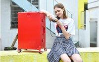 chariot à valises 24 pouces achat en gros de-Valise femelle 20 pouces valise trolley roue universelle cadre aluminium version coréenne mâle 24 mot de passe box 26 retro student 29