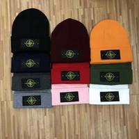 ragbi şapkaları şapkaları toptan satış-2019 CP SI işlemeli Kasketleri erkek kadın unisex Kasketleri casual örme kaykay kafatası caps açık çift gelgit şapkalar 10 renkler