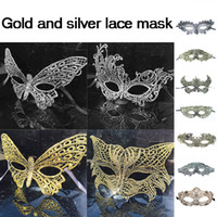Wholesale blue cosplay for sale - Group buy New Gold Silver Lace Party Mask Halloween Face Party Mask Cosplay Masks for Girls Head Lace Sexy Fancy Dress Costume