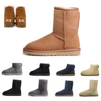 Wholesale white tall heels for sale - Group buy 2019 WGG Women s Australia Classic tall Boots Women girl boots Boot Snow Winter black blue Bow tie boots leather shoes size