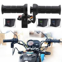 Wholesale handlebar usb resale online - New Hot Pair in Black Motorcycle Handlebar Electric Hot Heated Grips Handle Voltage USB Charger